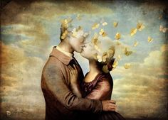 """""""Lover's Farewell"""" Digital Art by Christian Schloe posters, art prints, canvas prints, greeting cards or gallery prints. Find more Digital Art art prints and posters in the ARTFLAKES shop. Magritte, Editorial Illustration, Illustrator, Kunst Online, Unalome, Canvas Prints, Art Prints, Surreal Art, Oeuvre D'art"""