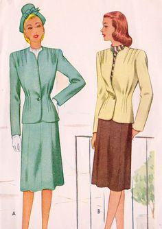 1940s Misses Tailored Suit