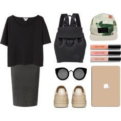 Ugly Lulu by baludna on Polyvore featuring moda, Acne Studios, Alexander Wang, I Love Ugly, Quay, Bobbi Brown Cosmetics, women's clothing, women's fashion, women and female