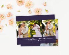 Twigandjuniper Etsy listing at https://www.etsy.com/au/listing/178446892/simple-photo-wedding-thank-you-card