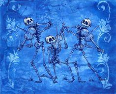 Day of the Dead artist David Lozeau paints Dia de los Muertos art, skeleton art, sugar skull art, and candy skull art in his unique Lowbrow art style. Memento Mori, Stretched Canvas Prints, Canvas Art Prints, Sugar Skull Art, Sugar Skulls, Candy Skulls, Day Of The Dead Art, Skeleton Art, Desenho Tattoo