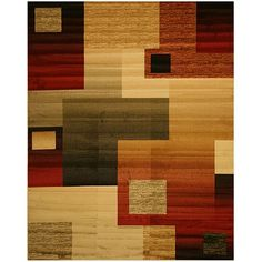Bring instant style to any room with this 'Modern Boxes' rug. The rug features a richly colored geometric pattern that will enhance any modern decor.