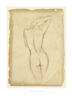 Ethan Harper Antique Figure Study I Giclee Print