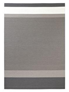 Woodnotes paper yarn carpet Panorama col. graphite-light grey.