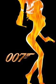 James Bond 007 Silhouette Art iPhone Wallpaper Download