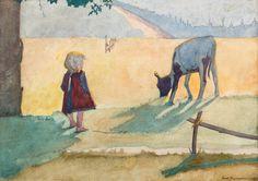 ANDRZEJ PRONASZKO  NA PASTWISKU, 1911-12   akwarela, ołówek, piórko, tusz, papier / 20,5 x 29,5 cm