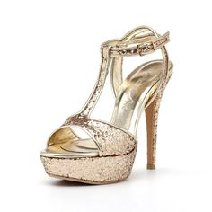 Glittering Gold Wedding Heels Custom Made Gold by ChristyNgShoes, $170.00