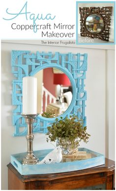 Quick & easy update to an MCM Coppercraft Mirror | The Interior Frugalista