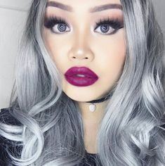 Simple nighttime glam with a plummy lip. Upload your look to gallery.sephora.com for the chance to be featured!