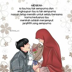 31 New Ideas For Wedding Couple Cartoon Muslim couple animasi Islamic Phrases, Islamic Messages, Islamic Love Quotes, Muslim Quotes, Wedding Couple Cartoon, Wedding Planning Quotes, Married Quotes, Islamic Cartoon, Anime Muslim