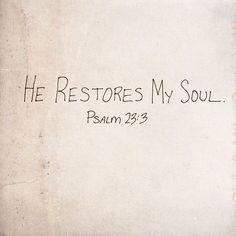 psalm 23:3      (via