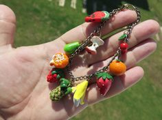 Polymer Clay Fruit Bracelet Handmade Clay Fruit by cutesycat