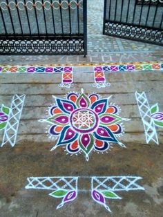 My moms spl colorful rangoli