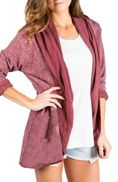 Element 'Nicola' Hooded Open Cardigan available at #Nordstrom