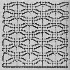 вязание крючком узоры и схемы