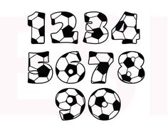 Soccer SVG, DXF, EPS, cutting files for use in Silhouette studio and Cricut Design Space. Vinyl cut files, monogram files. Football, sports.