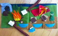 Felt Camping Quiet Book Page