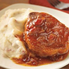 Slow-Cooker Autumn Pork Chops with Orange Cranberry Sauce