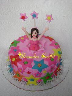 Bolo estrelas - Stars Cake by Alexandra Bolos Artísticos, via Flickr