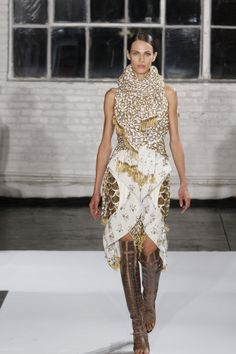 Neutrals with Swarovski Elements Crystals at Joseph Altuzarra. Photography by Dan Lecca