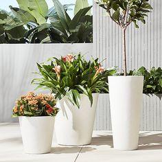 shore polyterrazzo planters | CB2