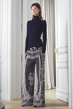 long and lean with wide leg pants