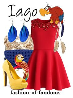 """Iago"" by fofandoms ❤ liked on Polyvore featuring Valentino, Urban Expressions, Chicwish, Disney, Juicy Couture and JustFabulous"