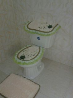 Baño juego Verde