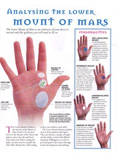 Divination: #Palmistry ~ Analyzing the Lower Mount of Mars.