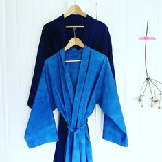 Summer yukata in indigo 2 shades by evalunda