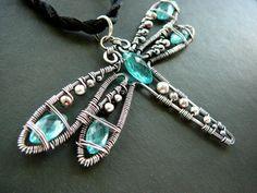 Wilma Wingtips dragonfly pendant wire by CleopatraKerckhof