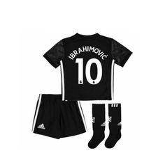 0bb0d597dac  10 IBRAHIMOVIĆ Youth Manchester United Away Red Kids full Sets 2017 18