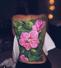 Back Painting, Back Art, Summer Art, Watercolor Tattoo, Doodles, Inspiration, Body Paint, Art Therapy, Women