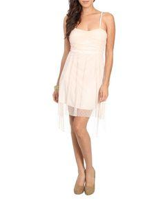 Swiss Dot High Low Dress (Blush). Wet Seal. $29.50