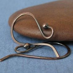 Handmade Ear Wires Rustic Copper Ball French by RockisMetalwork, $8.25