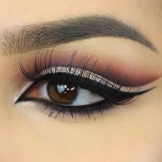 Makeup Geek Eyeshadows in Corrupt and Bitten + Makeup Geek Foiled Eyeshadow in Starry Eyed. Look by: byjeannine