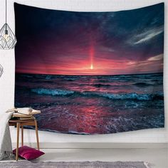 Discover the best beach themed tapestries and coastal wall tapestries. We love beach wall decor and tapestries are affordable and beautiful, which makes them a great option. Coastal Wall Decor, Beach Wall Decor, Living Room Bedroom, Living Room Decor, Ocean Artwork, Wall Decor Design, All Of The Lights, Hanging Flower Wall, Ocean Sounds