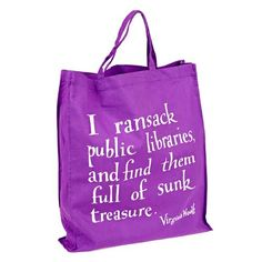 Virginia Woolf library bag