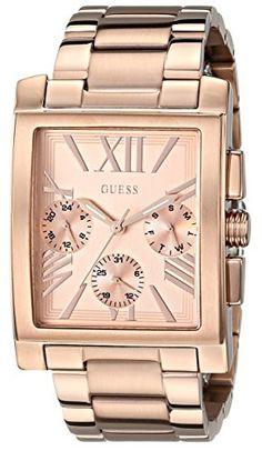 GUESS Women's U0450L3 Sophisticated Classic Rose Gold-Tone Multi-Function Watch