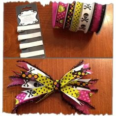 How to Make Halloween Hair Bows