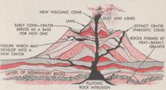 Cross Section of a Typical Volcano Web Page Builder, A Typical, Cross Section, Free Website, Volcano, Geology, Science, Image, Big