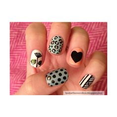 Nail Art | Tumblr found on Polyvore