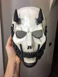 LUCIFER -Limited Edition Mask- (Resin Skull Full-Face Mask) – Clothing / Information … – face mask Mascara Oni, Character Art, Character Design, Mode Latex, Cool Masks, Awesome Masks, Mask Drawing, Skull Face Mask, Arte Obscura