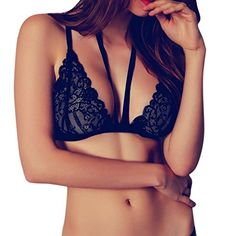 a2a46eb1692f6b 2018 Hot Sexy Black Lace Bras Push Up Women Bandage Floral Lace Bralette  Bustier Crop Top Sheer Triangle Bra Women s Lingerie