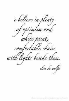 wednesday wisdom | elsie de wolfe quote