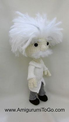 Albert Einstein by sojala.deviantart.com on @deviantART #crochet #geek #amigurumi