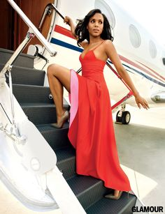 Kerry Washington.   Slow your roll Kerry.  You can get in the private jet one step at a time!
