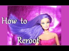 How to reroot the dolls hair - this is a total replacement of the hair.