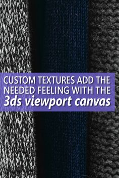 A Viewport to Custom Textures in 3ds Max ...  Don't let your 3ds Max creations lay flat. Learn about custom textures with AUGI's Brian Chapman! 3ds Max's viewport canvas could be your key to bring whole new worlds of depth to your creations.  Image credit: Michal Kulesza (https://stocksnap.io/photo/OA0AFM3HYZ)