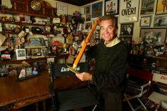 Dick Clark broadcaster, icon in his Burbank office